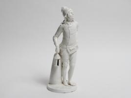 sujet porcelaine capodimonte l homme a la lanterne