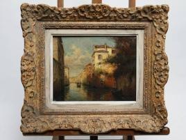 """LOT 181 / ALDINE Marc (Eloi Noel BOUVARD) """"1875-1957"""" HUILE SUR TOILE """"VUE DE VENISE """" 24,5 x 19,5 cm"""