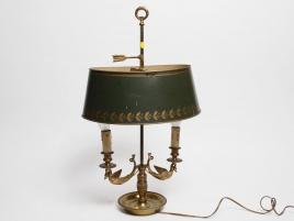 LAMPE BOUILLOTE DE STYLE EMPIRE A COL DE CYGNE