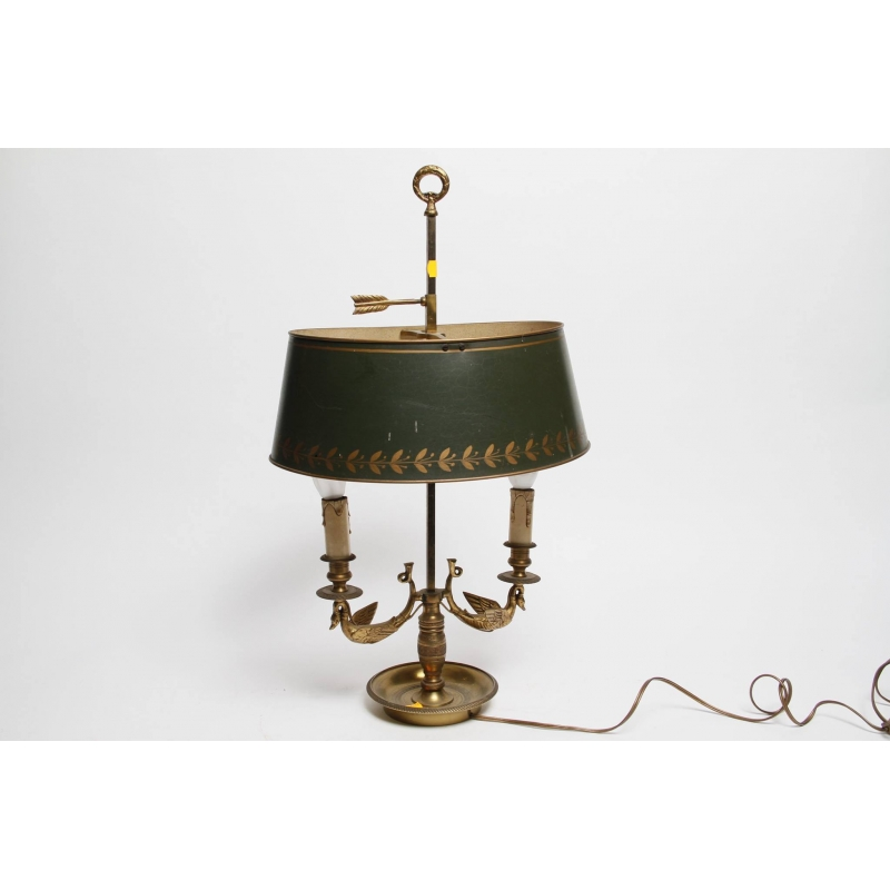 lampe bouillote de style empire a col de cygne. Black Bedroom Furniture Sets. Home Design Ideas